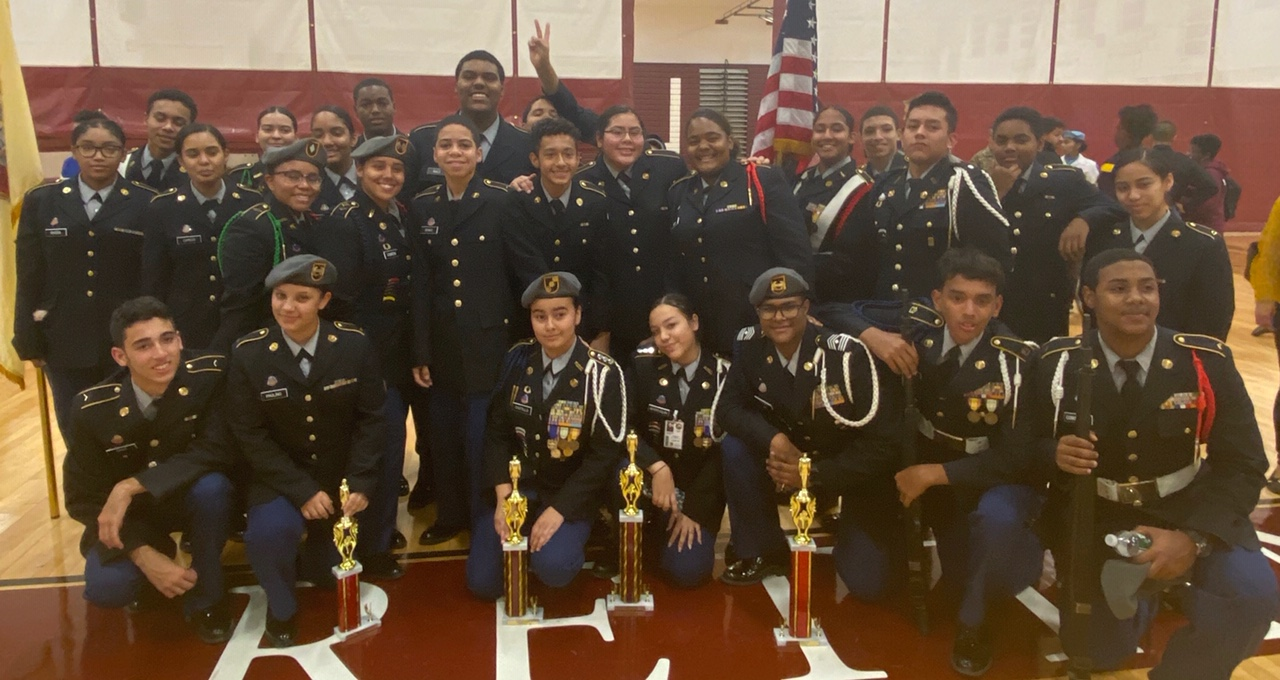 JROTC wins First and Second place at Union High School in categories that they  competed
