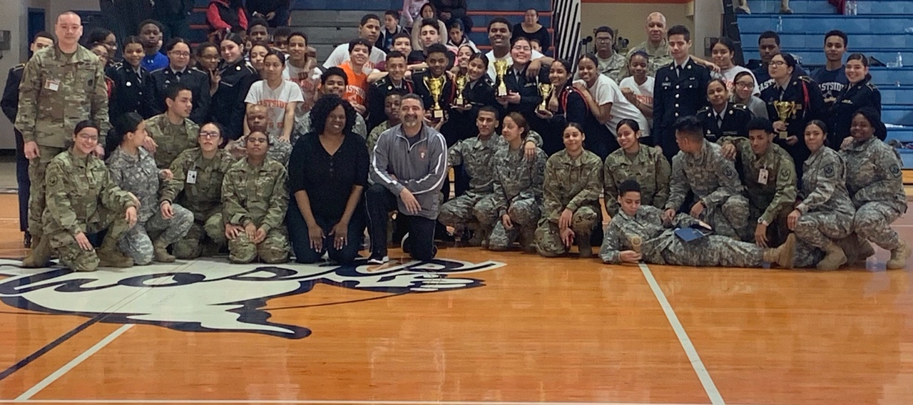 JROTC, Logan, Sosa – EHS Saturday competition at our gym