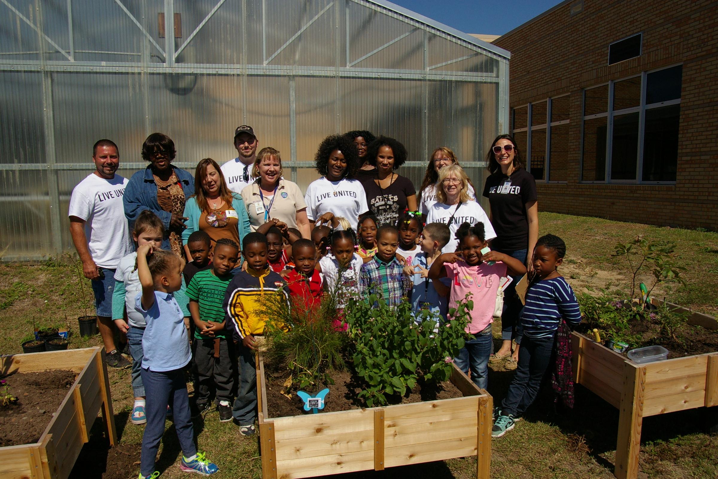 Mrs. White's Class Making a Butterfly Garden