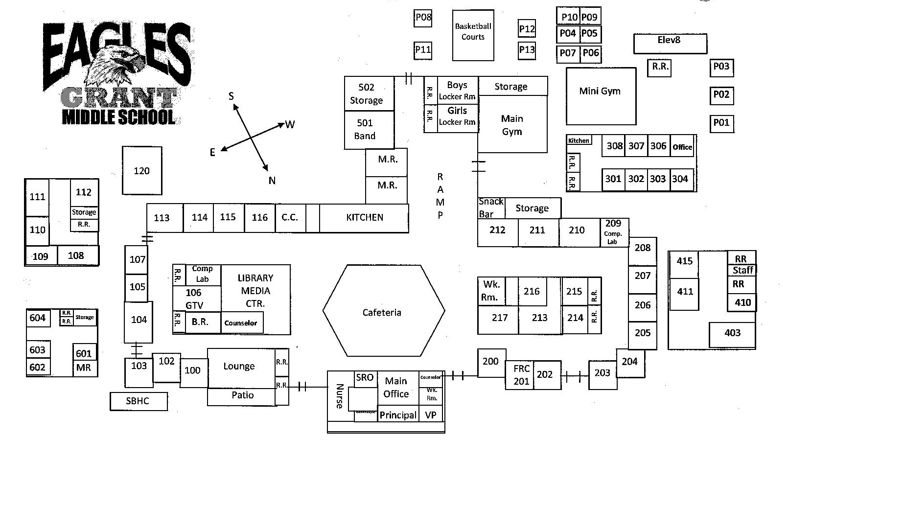Grant Middle School campus map