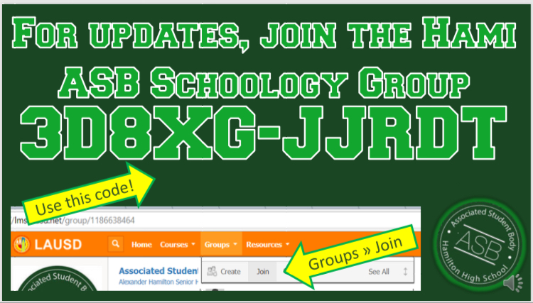 Join our ASB Schoology Group Today!