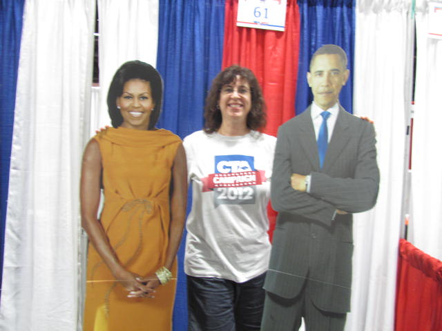 I am in Washington DC with the paper Obamas