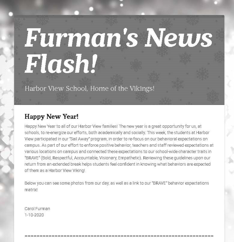 FURMANS NEWS FLASH