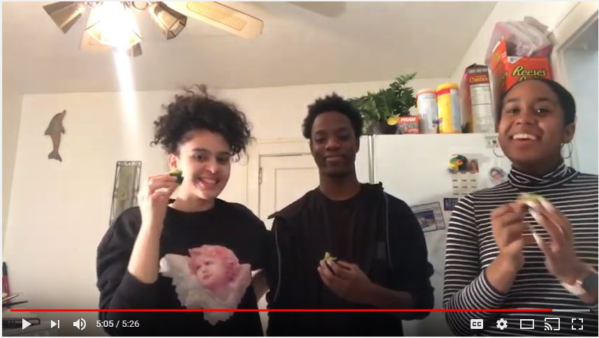 Lari, Emanuel, and Nicole share how to make an Avocucumberlicious snack. Link  to video.