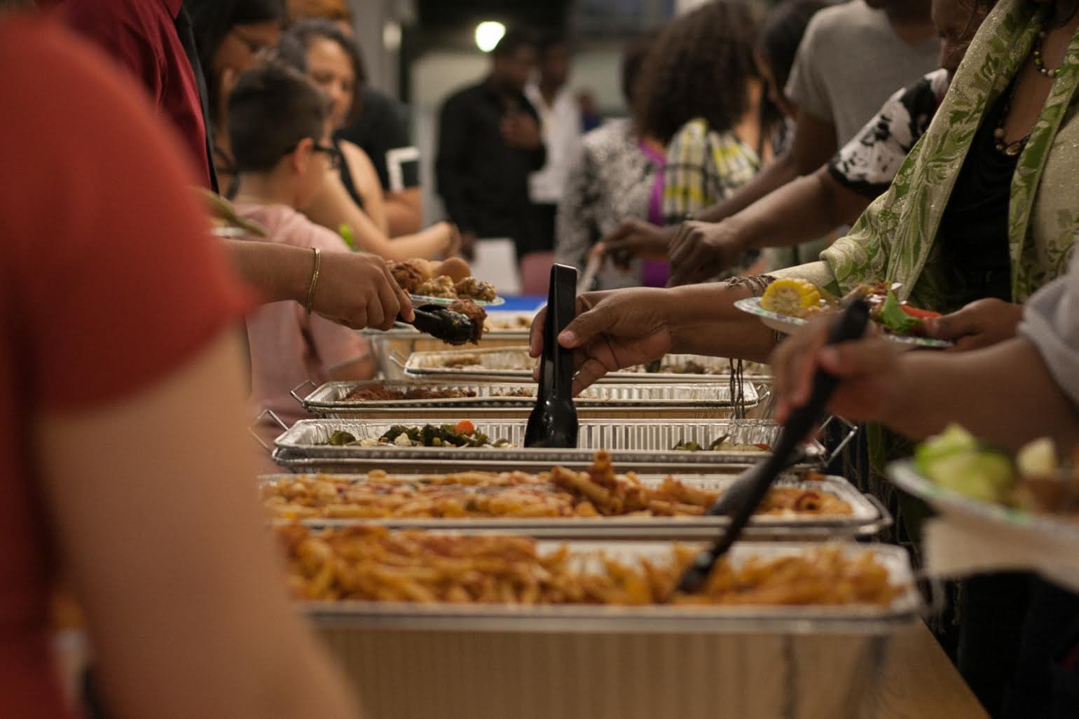 Self-serve catered meal after awards ceremony
