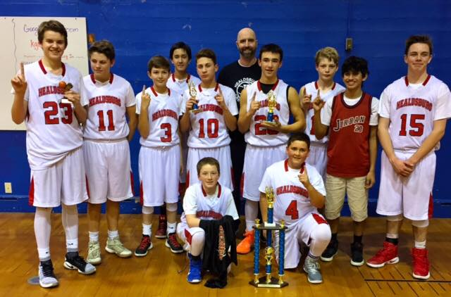 Ukiah Invitational 8th Grade Basketball Tournament Champs!