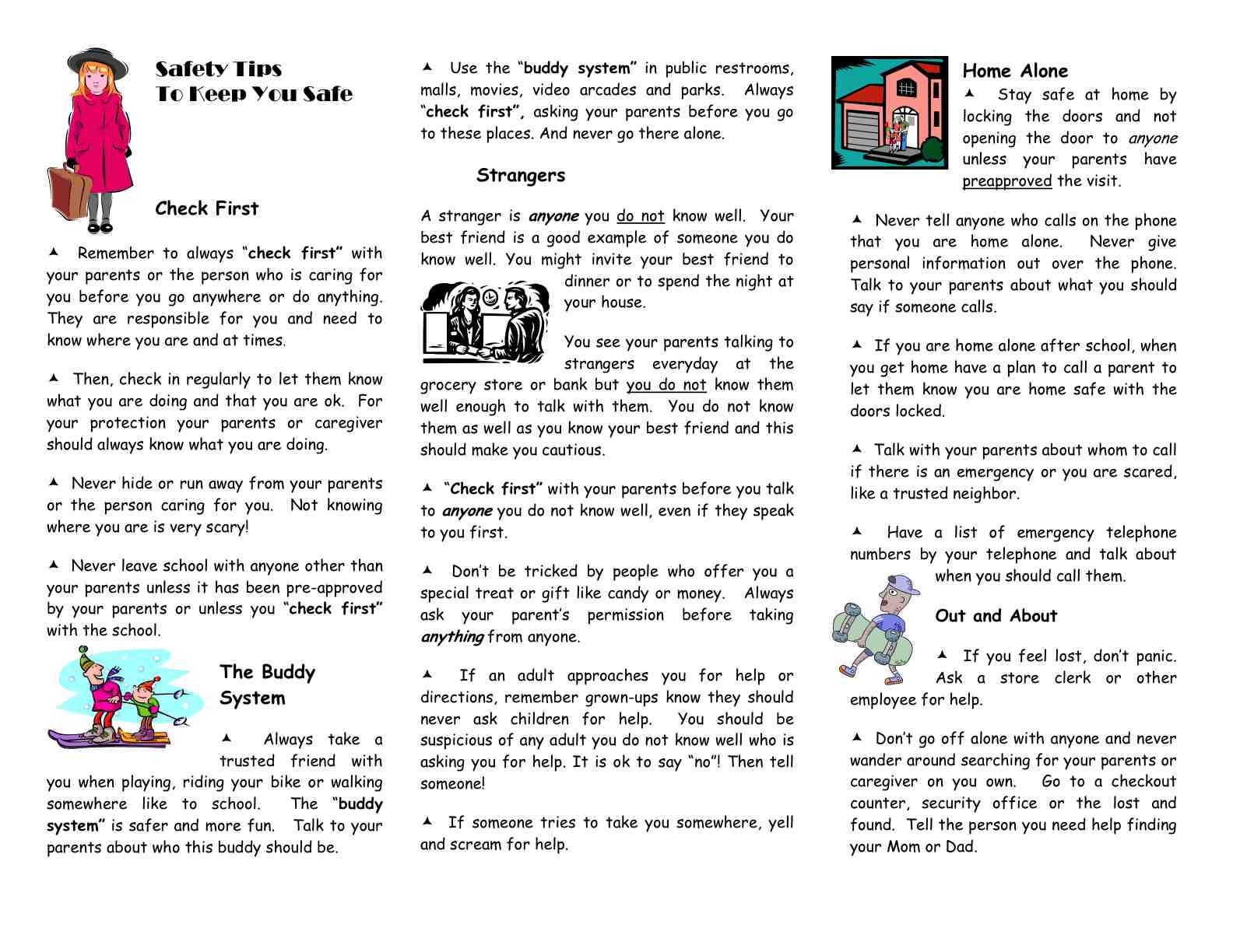 Carlsbad Police Department Safety Tips for Children2010