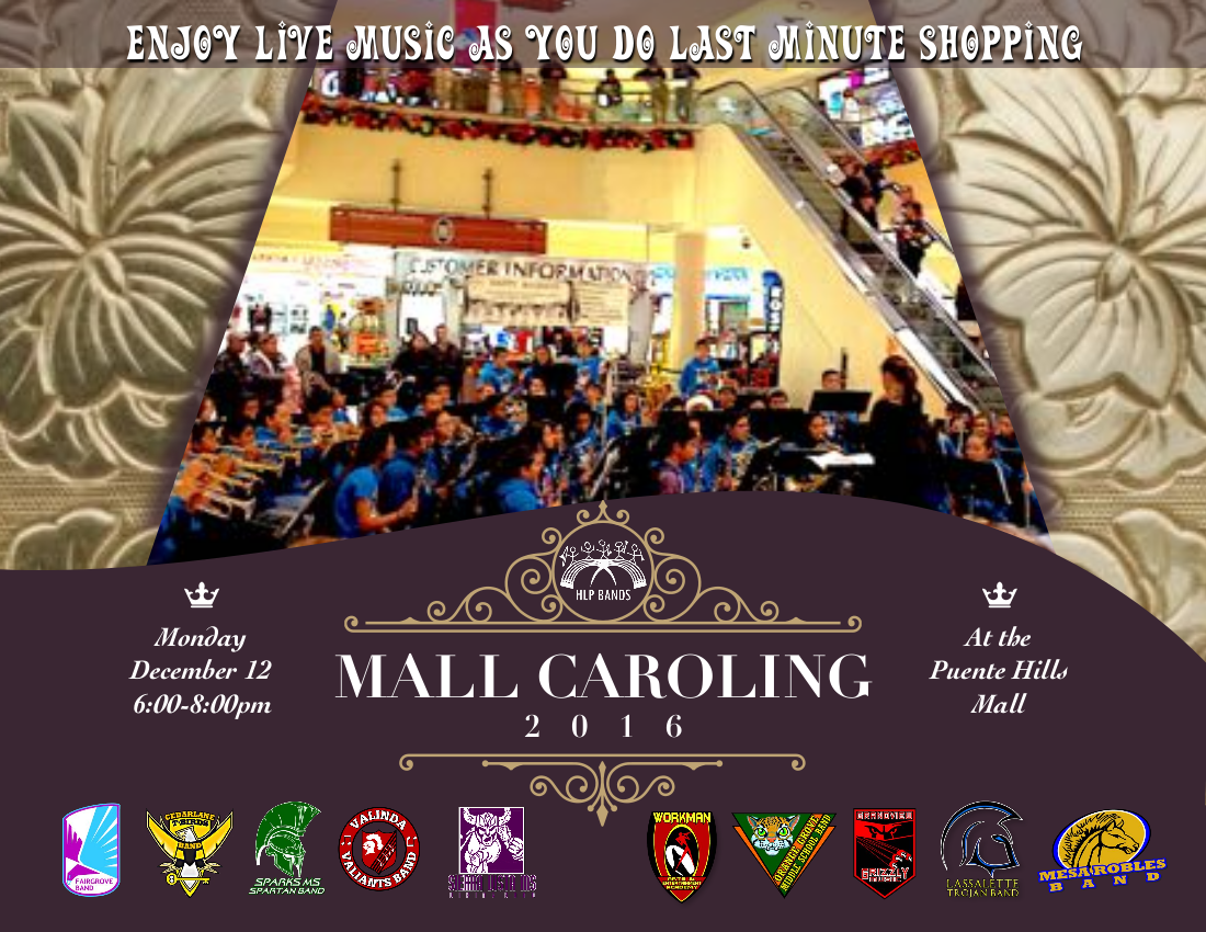 HLP Bands Mall Caroling 2016