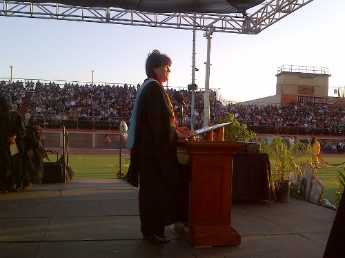 LPHS Principal Ava Smalleyat Graduation 2014
