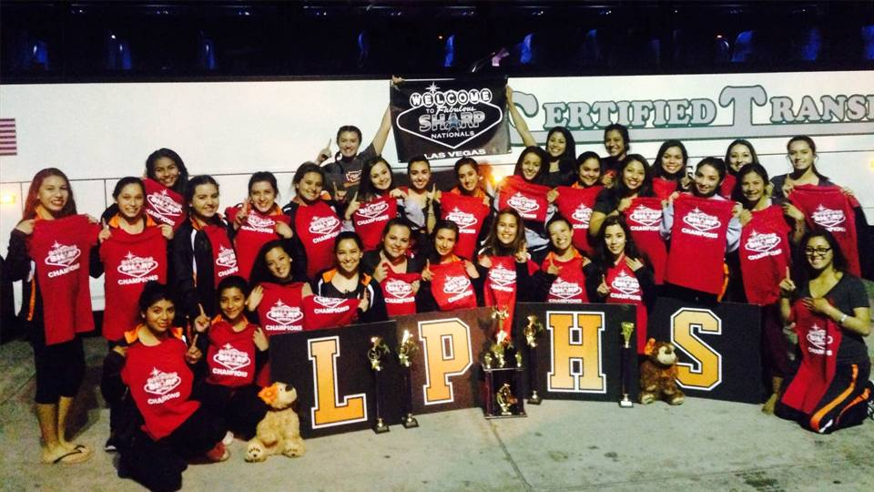 LPHS Warrior Cheer squad after winning Nationals