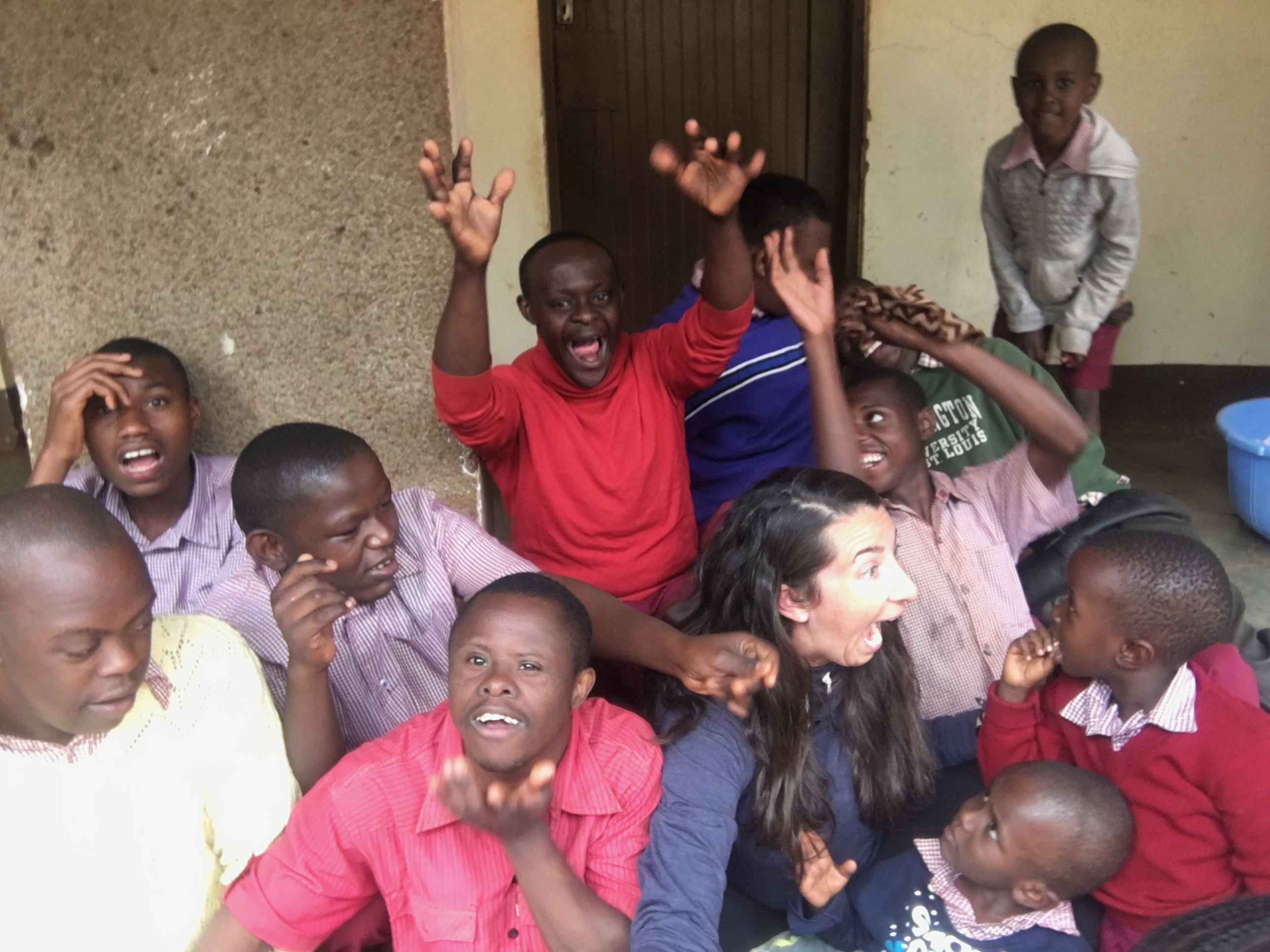 Mrs. King in Africa Working with SPED Students