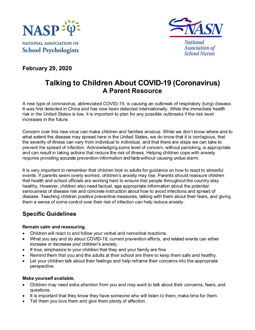 parent resource COVID