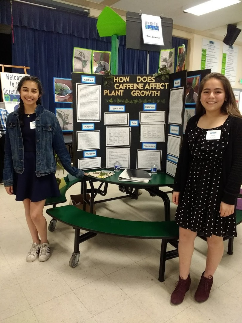 Students present their Science Fair project.