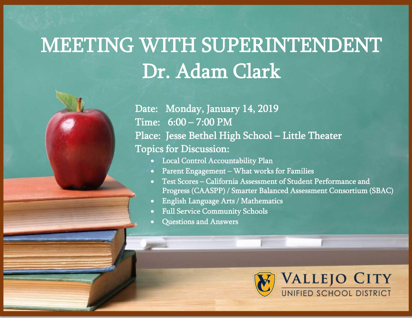 Meeting with Superintendent Info
