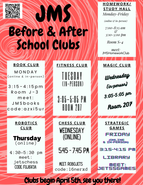 Re-Entry Before/After School Clubs