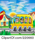 220660-Royalty-Free-RF-Clipart-Illustration-Of-A-Bus-Of-Of-Happy-School-Children-Arriving-At-School.jpg