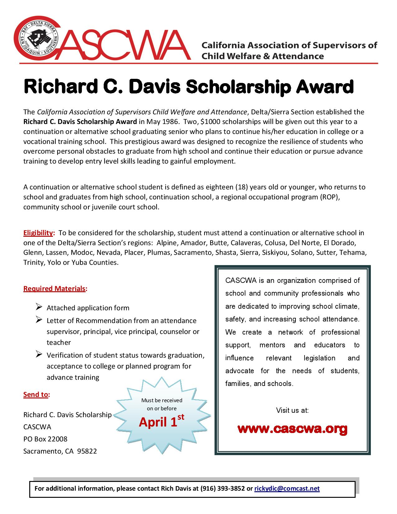 Richard-C-Davis Scholarship Award