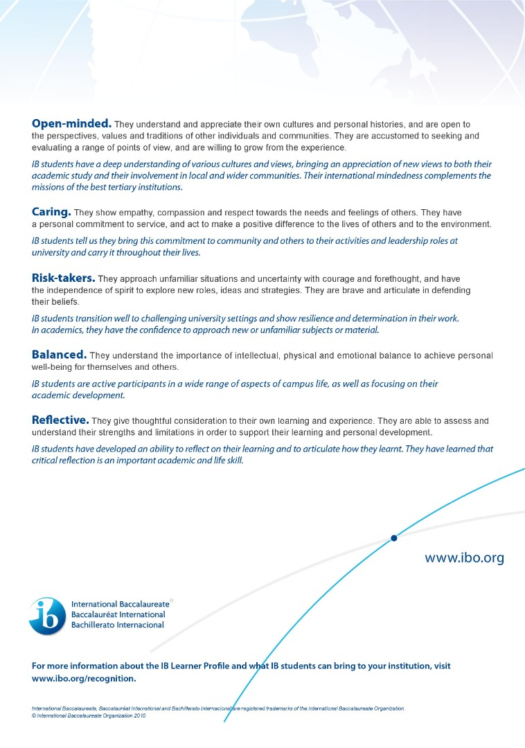 IB Learner Profiles 2 of 2