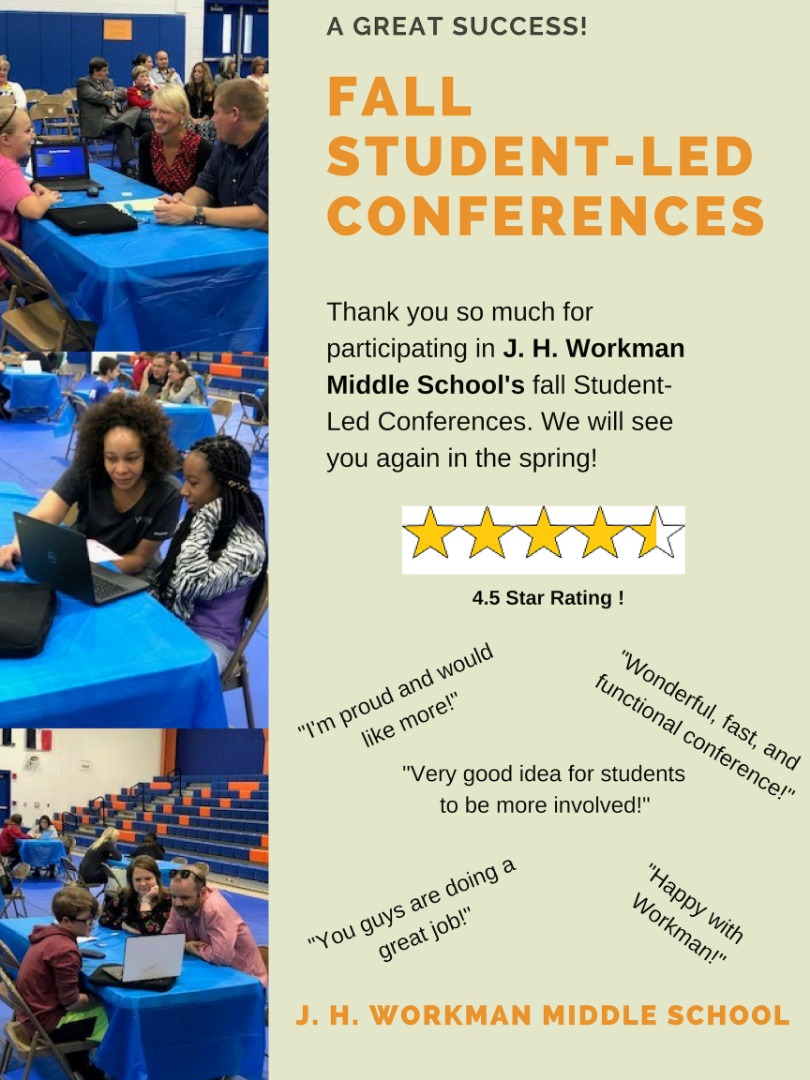 Fall Student Led Conferences Thank you
