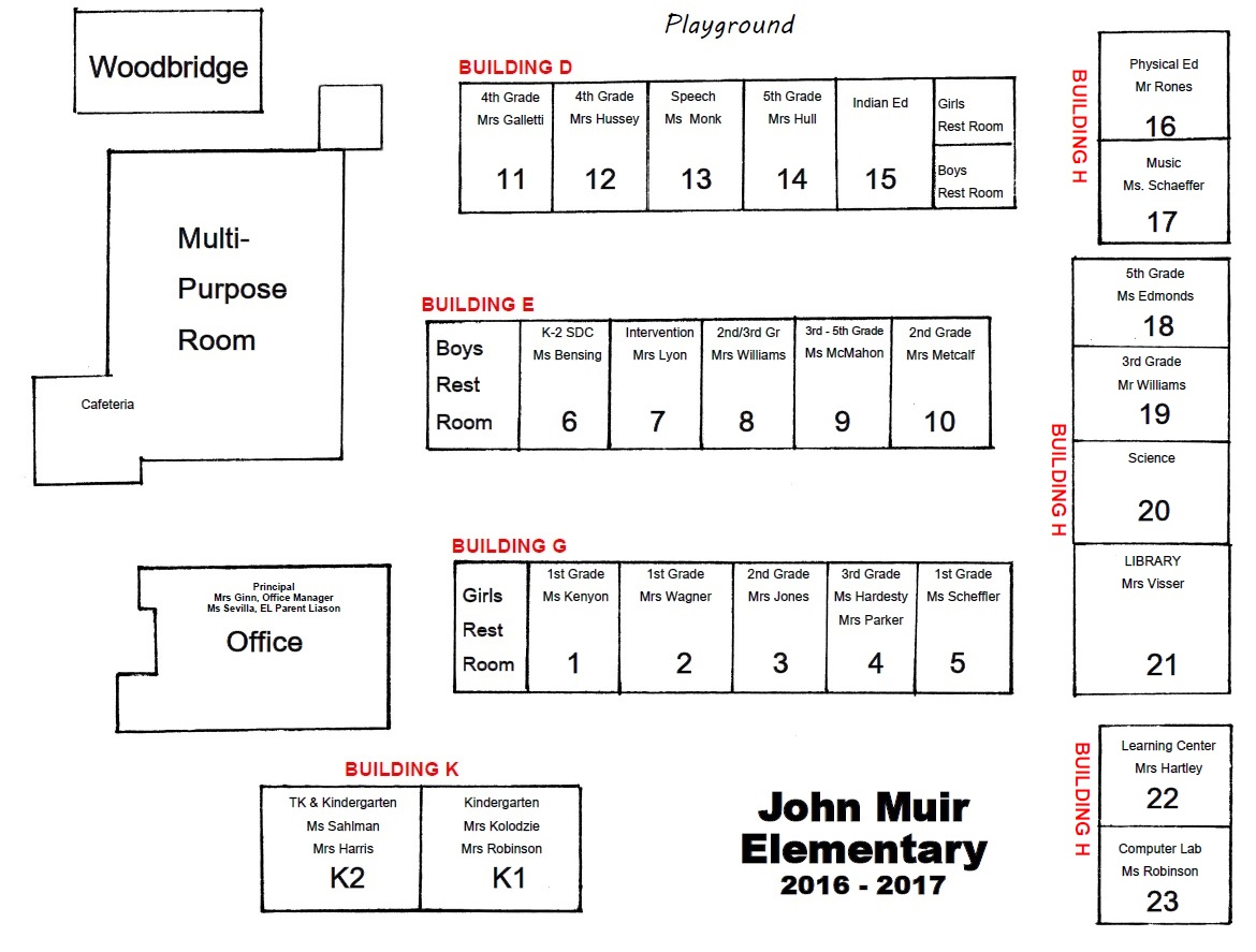Image of the John Muir Elementary School floor plan