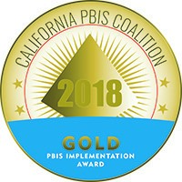 We are a PBIS Gold Medal School two years in a row