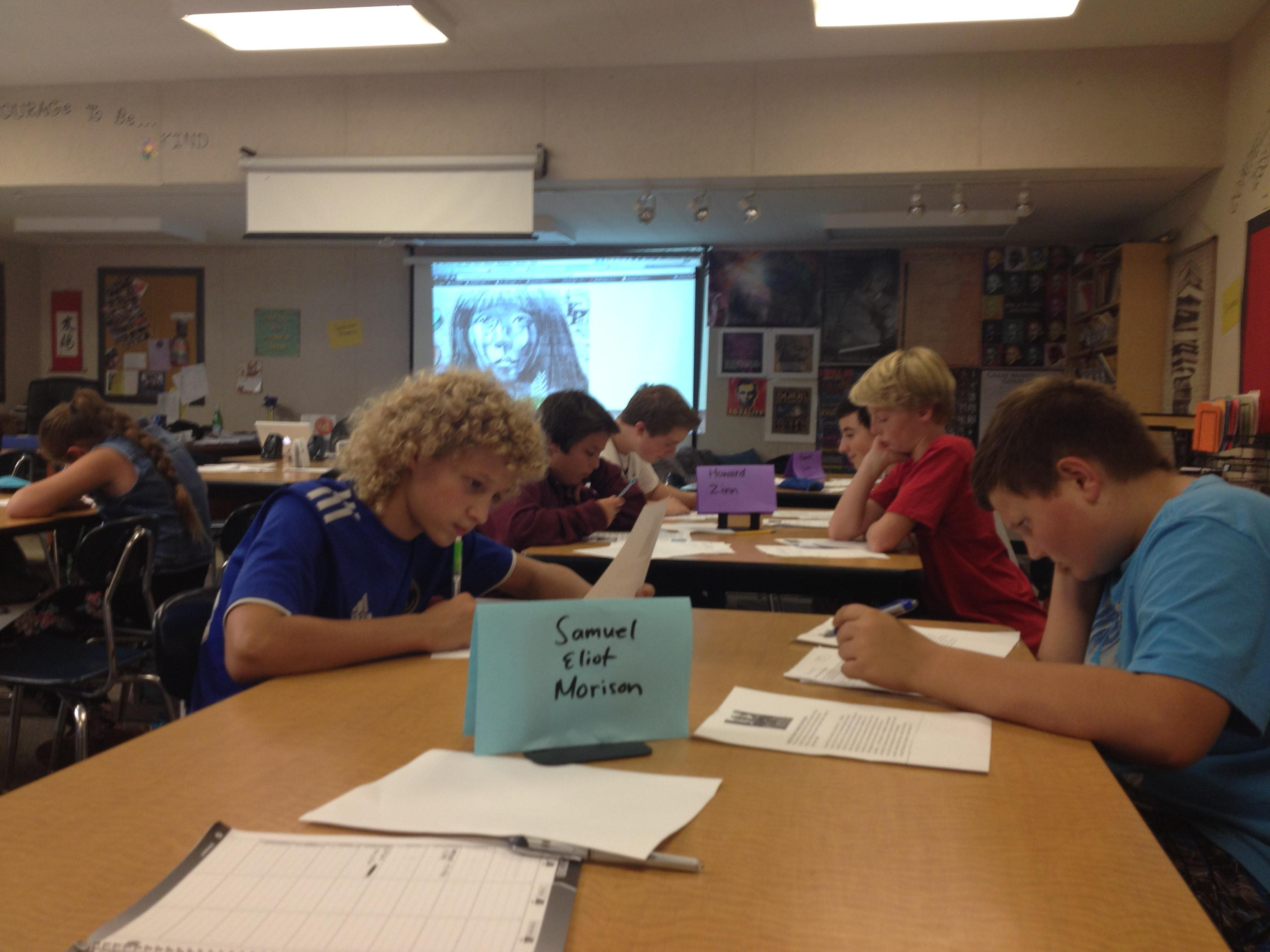 Close Reading Centers Multiple Perspectives - Columbus Hero or Villain?