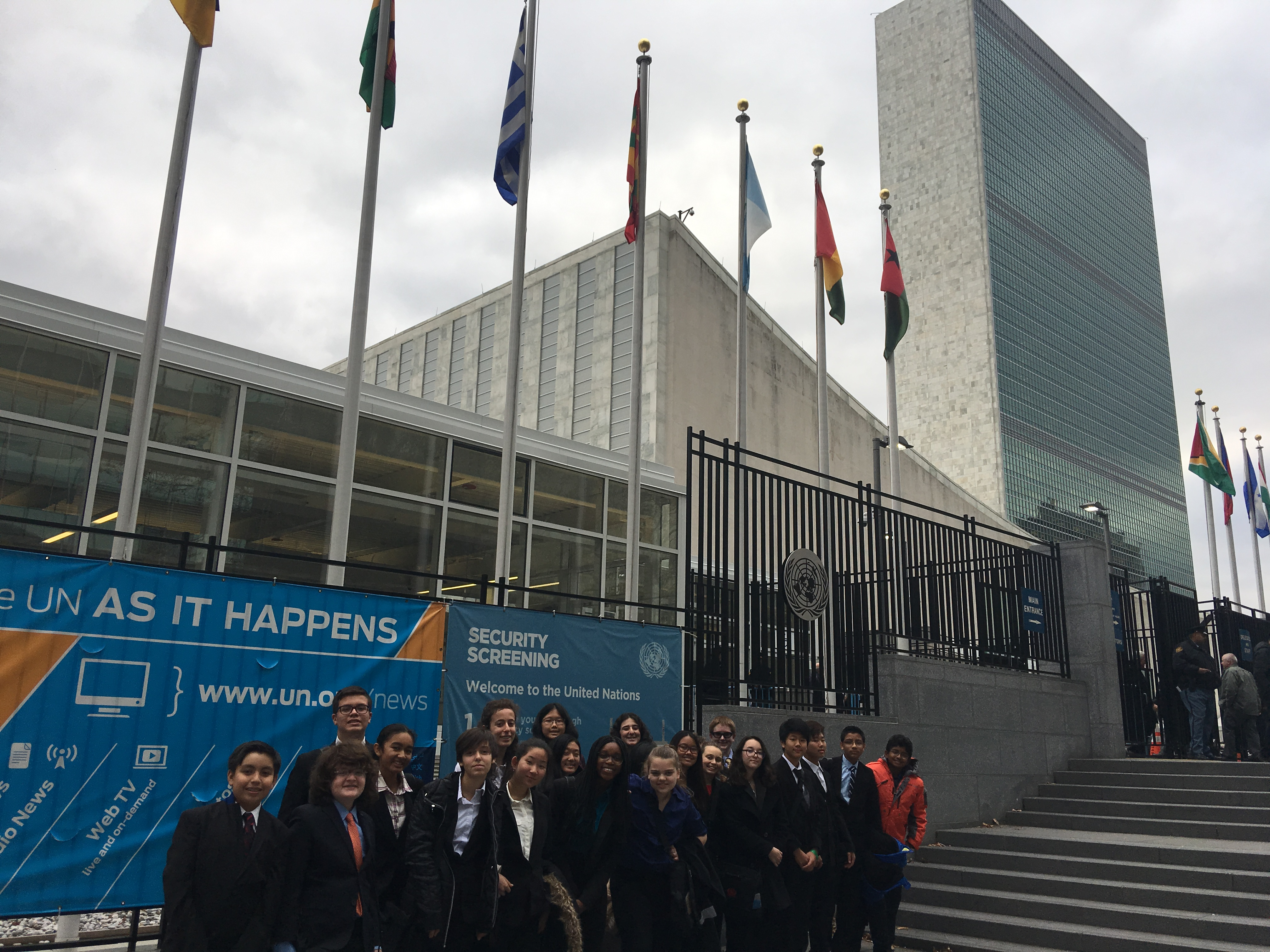 Model United Nations Trip to New York City 12/16