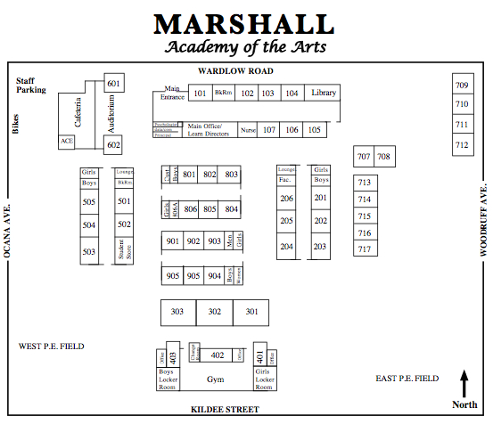 Marshall school map