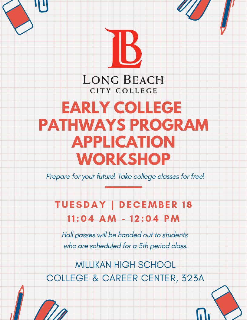 LBCC Early College promise pathways application workshop on December 18, 2018