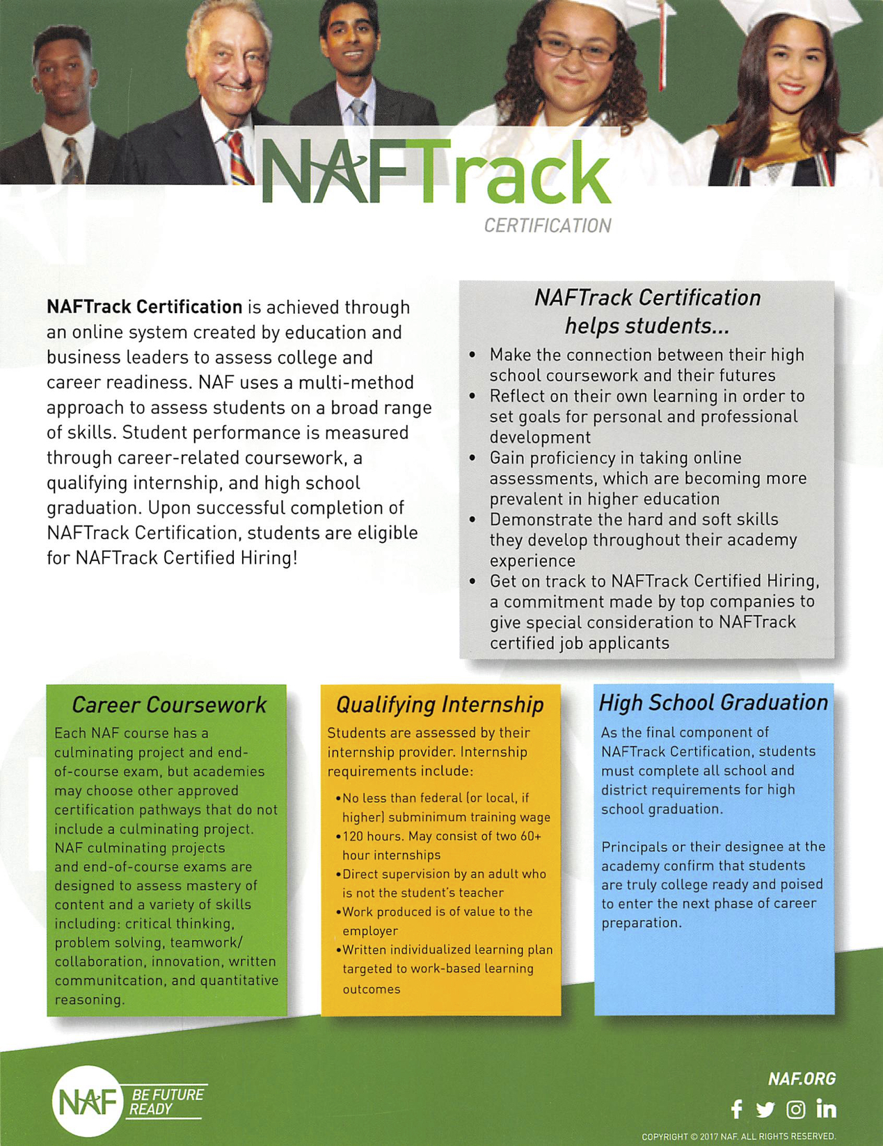 NAF Track Certificatio Flyer