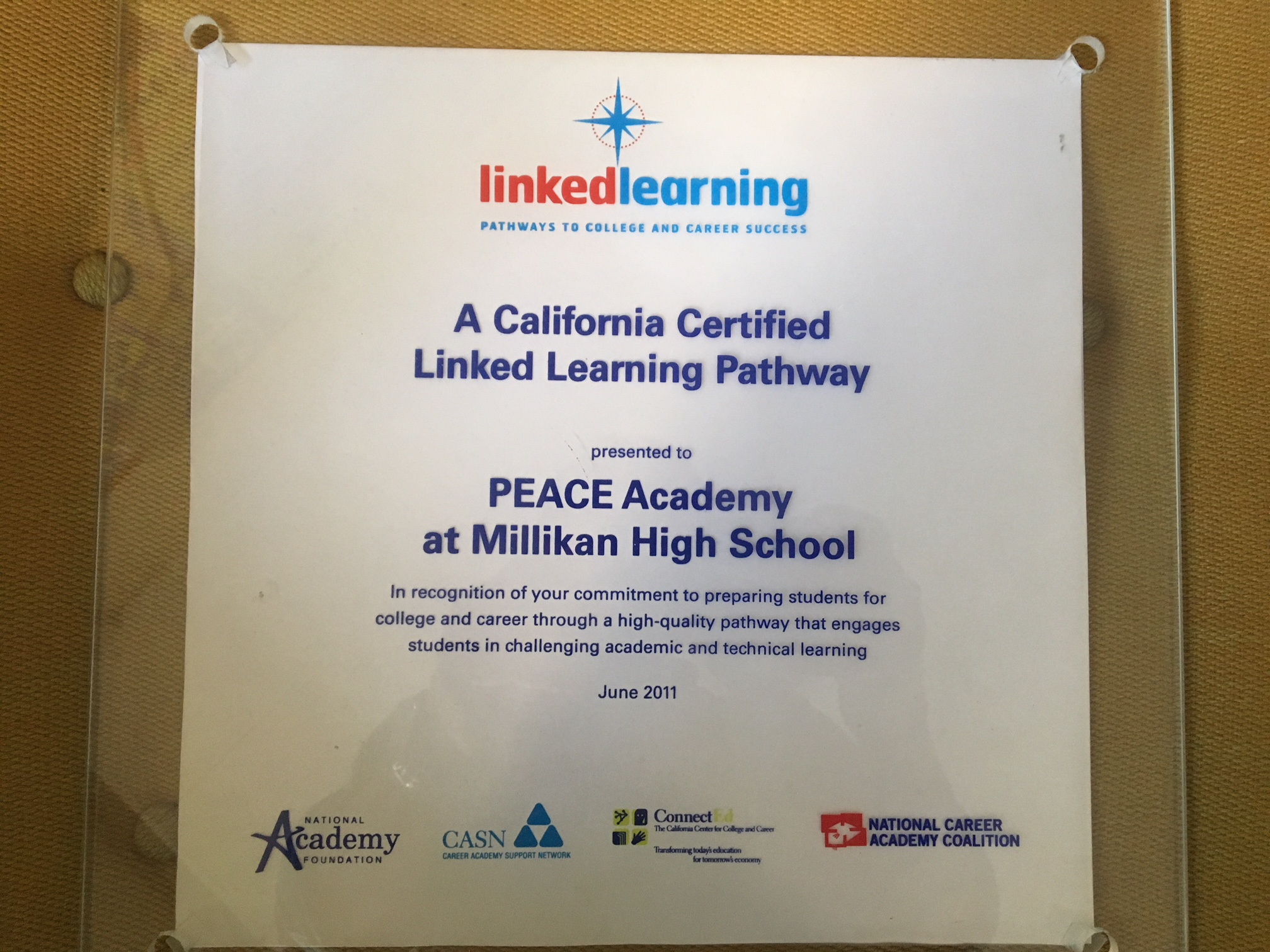 PEACE Academy Linked Learning Certification