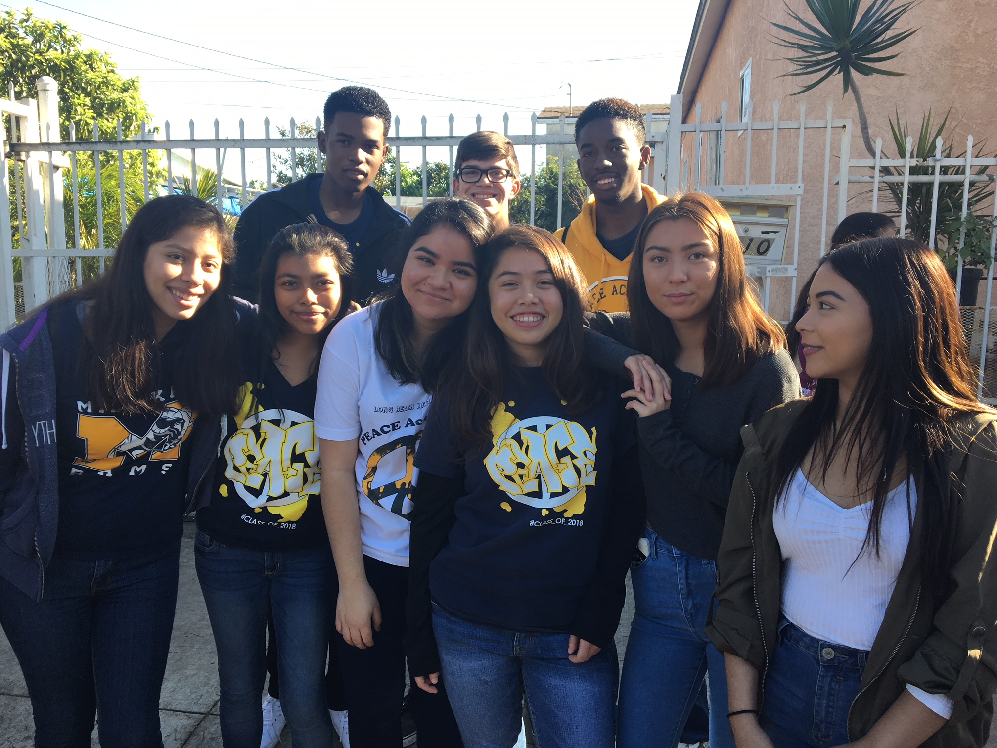 PEACE Students Participate in Dr. King March in LB