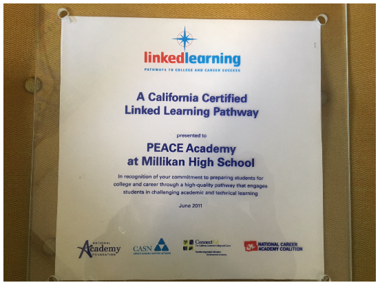 Peace Linked Learning Plaque