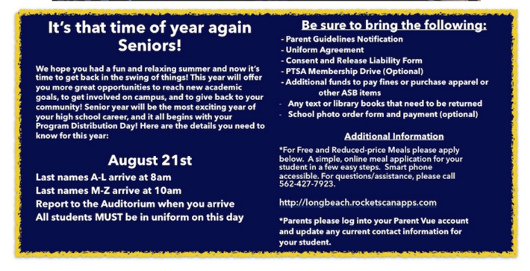 It's that time of year Seniors