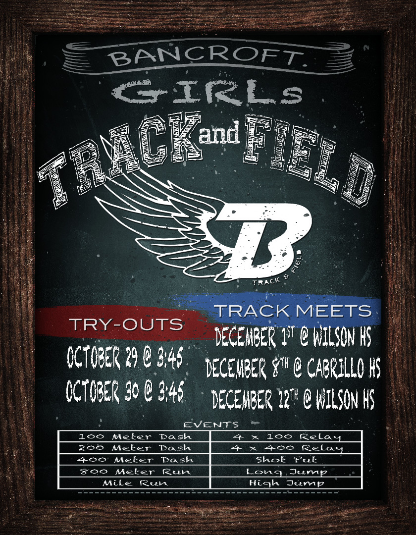 Track and field dates