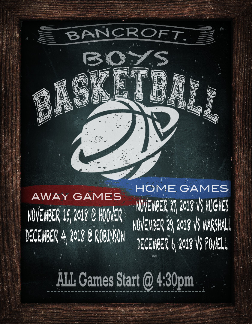Boy's basketball dates