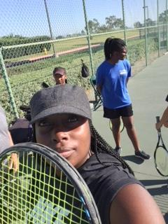 Playing with Girls Tennis