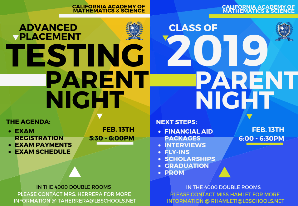 Parent NIght 2/13