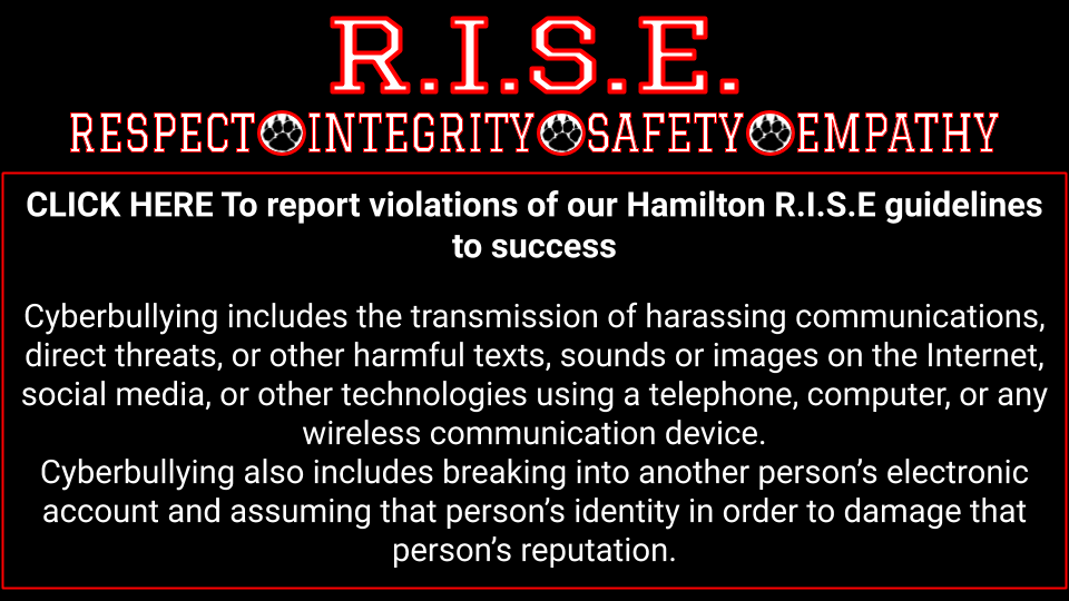 R.I.S.E Click here to report cyber bullying