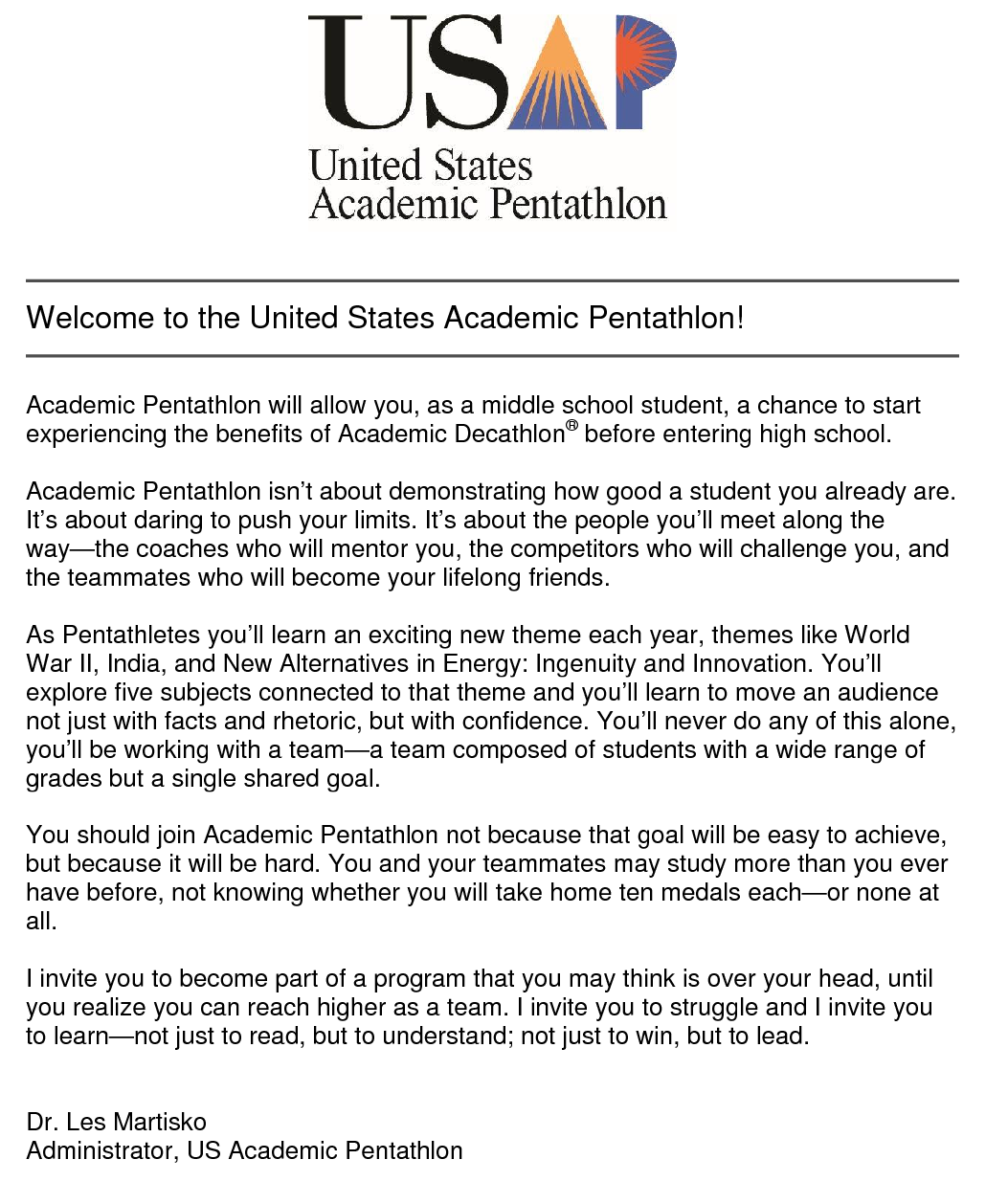 Academic Pentathlon Welcome Letter1.png