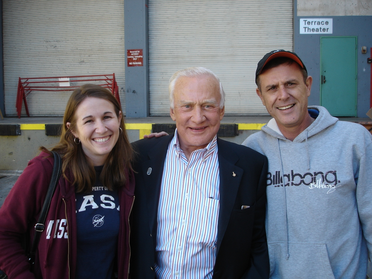 Mrs. Bobo, Buzz Aldrin, and Mr. Loveall in Long Beach 2011