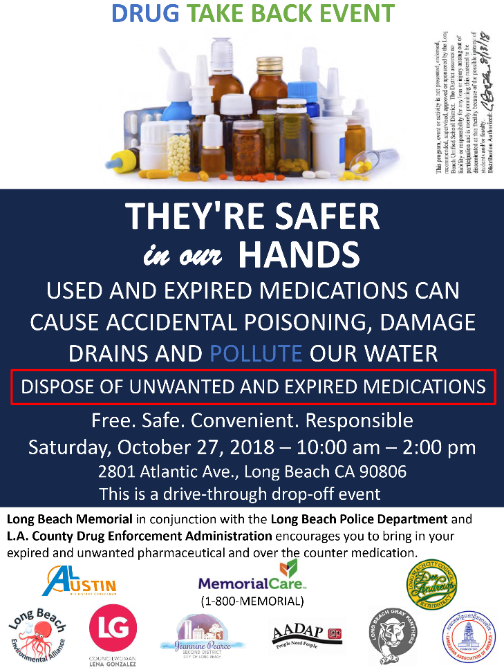 Expired medication disposal day flyer
