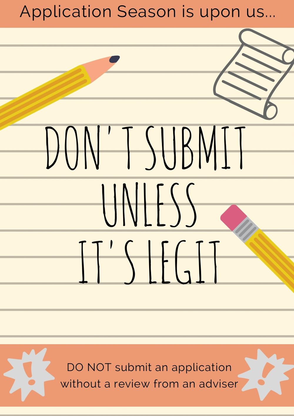 Don't Submit Unless It's Legit