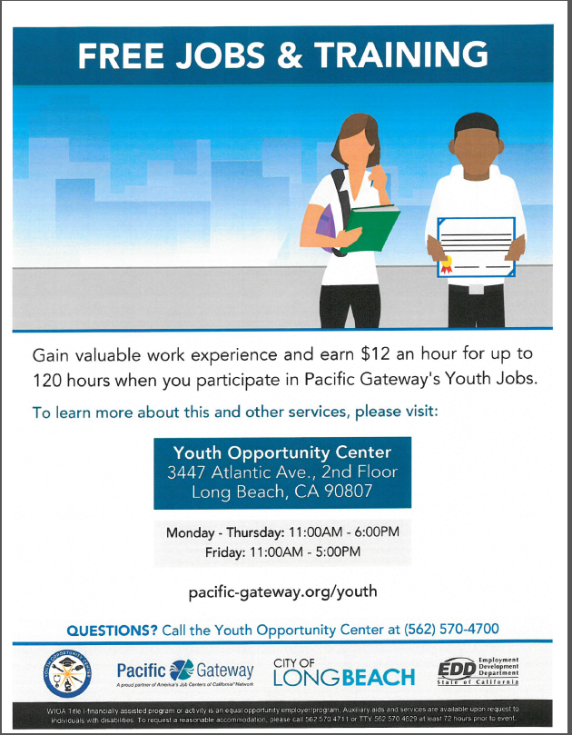 Youth Opportunity Center Flyer