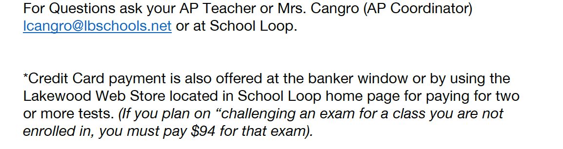 For questions contact lcangro@lbschool.net
