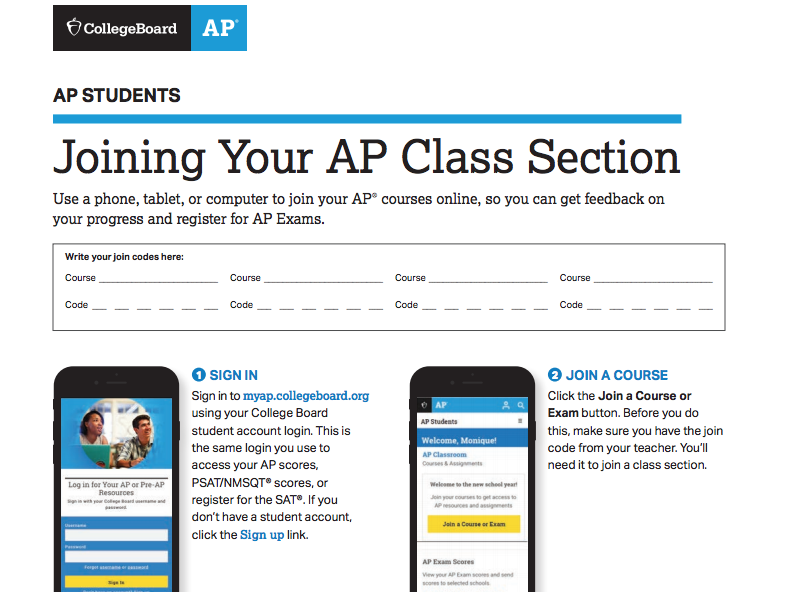Joinging your AP class section