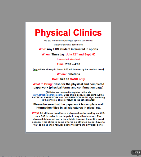 Physical Clinics