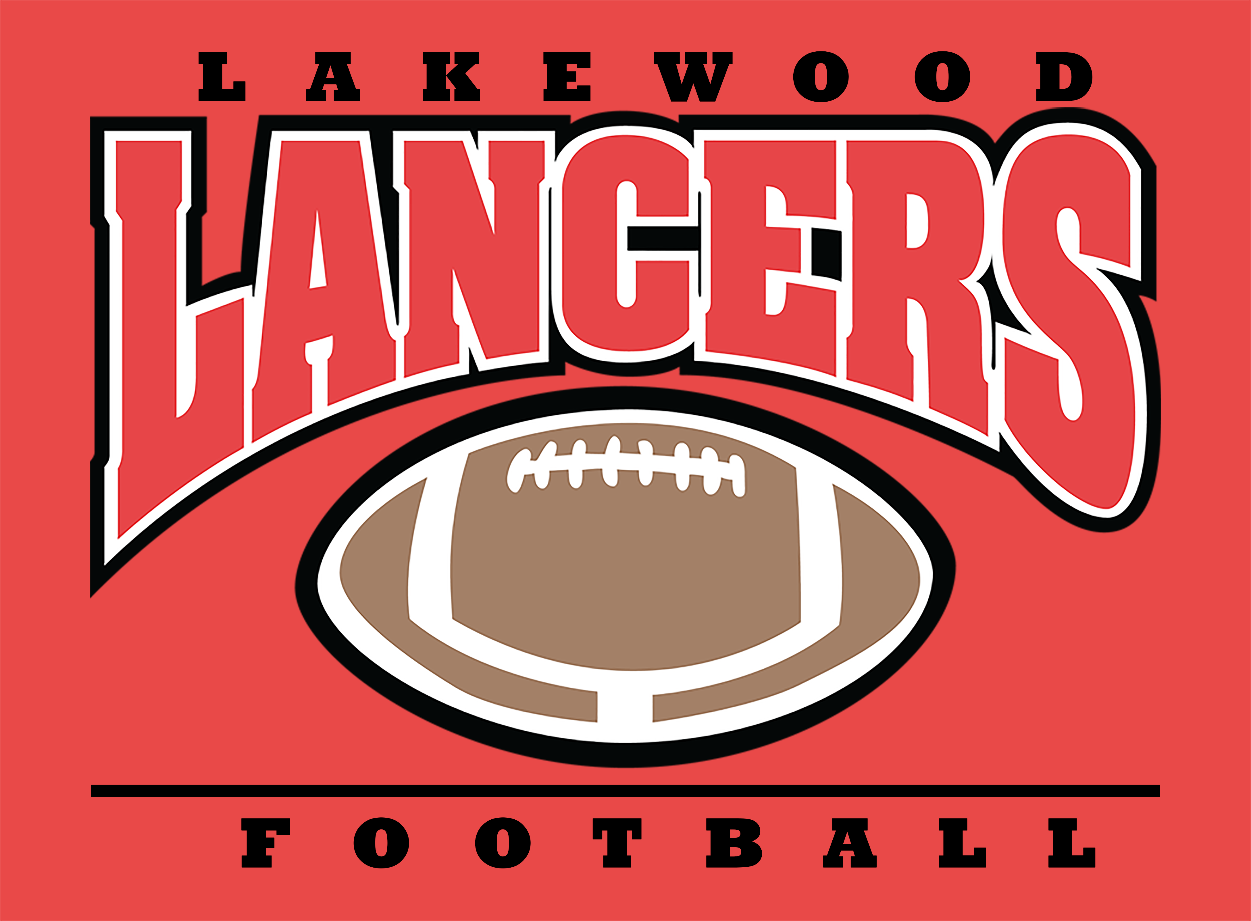Lakewood FB Logo on Red