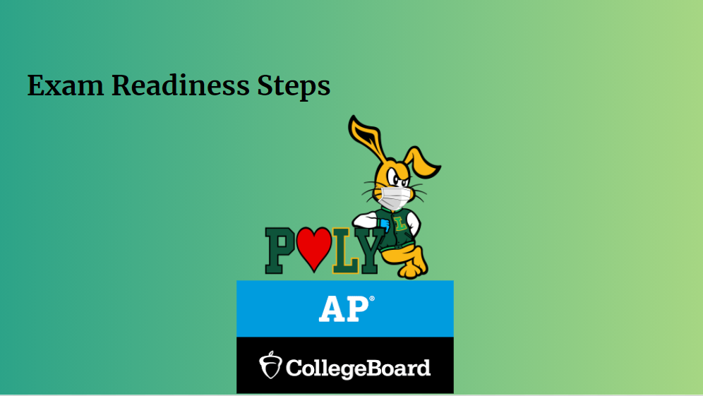 Click on the image to load the Exam Readiness Steps Presentation.