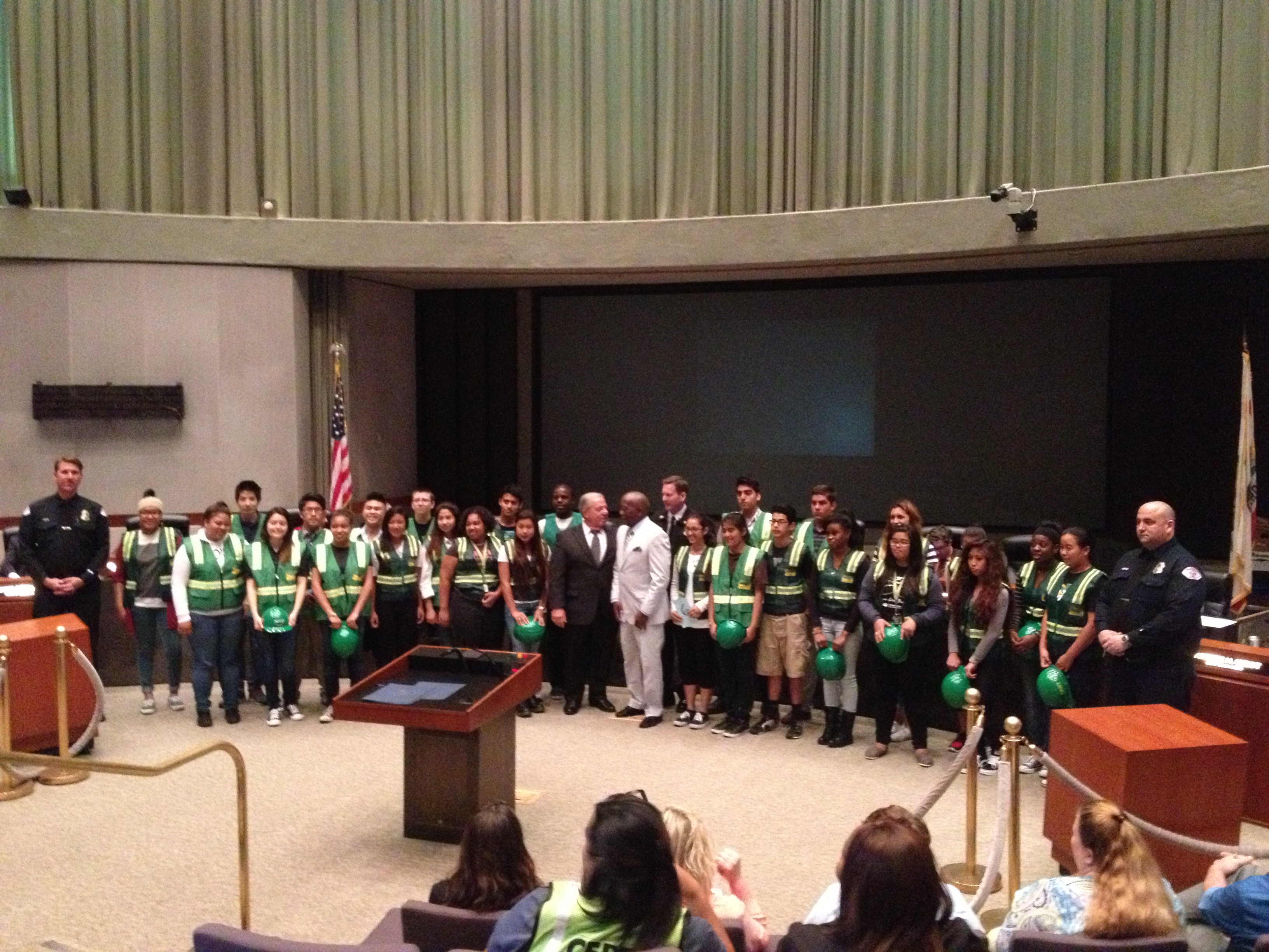 teen cert honored by mayor